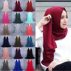 Women Fashion Chiffon Long Scarf Muslim Hijab Arab Wrap Shawl Headwear Reliable