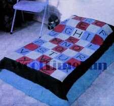 Knitting Pattern Baby Alphabet Bedspread/Blanket/Throw. Easy Make.