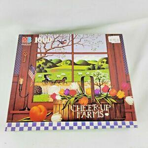 Milton Bradley Charles Wysockii Peach of a Day 1000 Pc Jigsw Puzze Cheer Up Farm