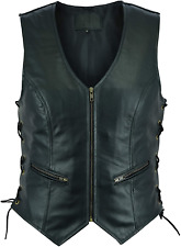 New listing Ruja Sports Women's Classic Leather Vest with Side Lace XL