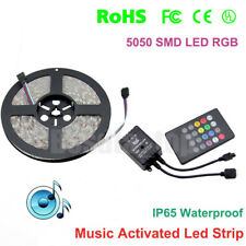 LED Music Flexible Strip String Color Change Light Dimmable Sound Activated Kit