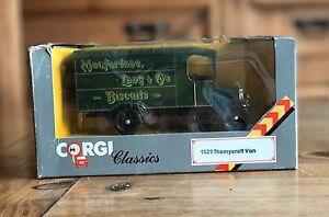 """Corgi Classics 1929 Thornycroft Van """"Macfarlane Lang Biscuits"""" Due Cast 1/43 833"""