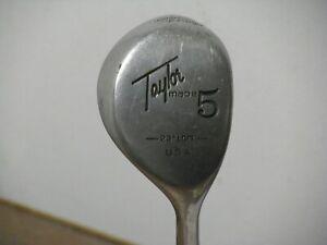 Ladies Taylormade Pittsburgh Persimmon 23* 5 Wood Ladies Steel Very Nice!!
