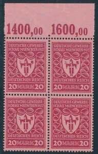 D.Reich Nr. 204 b P OR postfrisch/**, Viererblock geprüft Fleiner BPP (51325)