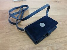 BNWT Juicy Couture navy towelling leather iphone case organiser bag purse NEW