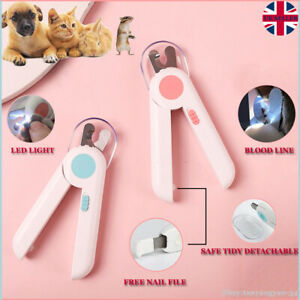 LED LIGHT Pet Nail Clippers Cat Dog Animal Rabbit Sheep Claw Trimmer Grooming