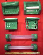 Vintage Green Bathroom Fixture Set, New Old Stock & easy to install semi-flush