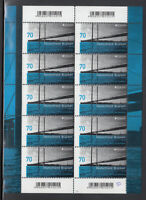"Germany 2018 - Dusseldorf ""Rhine Bridge"" 10 Stamps MNH / ** Sheet"