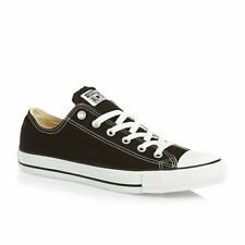Converse Mens Chuck Taylor Black All Stars OX Shoes - Size 8 UK / RRP £50 & NEW