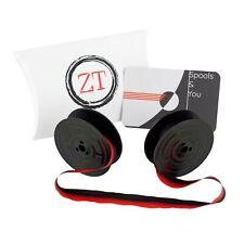 Olivetti Studio 42 44 45 46 Typewriter Ribbon Red/Black & Black w/ Metal Eyelets