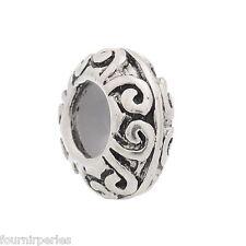 10 Perles FP Bloqueur avec Caoutchouc pr Bracelet Charms