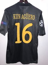 KUN AGUERO MANCHESTER CITY 2013 Champions League MATCH UNWORN SHIRT
