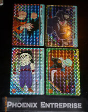 LOT DRAGON BALL Z DBZ AMADA PP CARDDASS CARD PRISM CARTE 88,46,87,85 JAPAN 1989