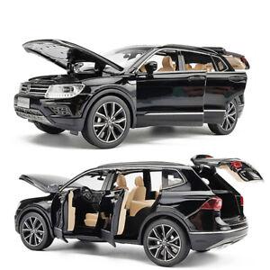 1:32 VW All New Tiguan L SUV Model Car Diecast Toy Vehicle Sound & Light Black