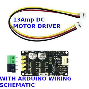 Cytron 13Amp DC Motor Driver arduino + Arduino Circuit Wiring Schematic