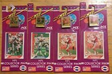 1991 Ace MVP NFL Collector Pin Card Series Lot of 4 Montana  X2 Aikman Sanders