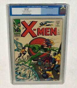 X-MEN #21 CGC 8.0 High Grade Old Label! (Lucifer appearance!) 1966 Marvel Comics