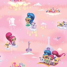 OFFICIAL SHIMMER & SHINE PINK PRINCESS GIRLS BEDROOM WALLPAPER DEBONA