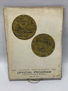 1966 Indianapolis 500 Official Program 50th Anniversary Motor Speedway Book Euc