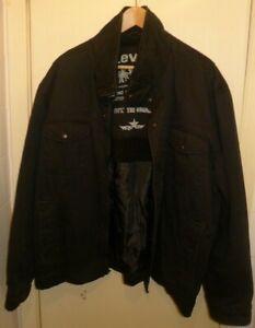 Levis Black Cotton Lined Jacket Sz.XXL