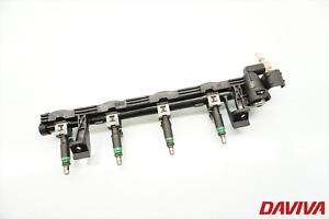 2004 Ford Focus 1.6 Petrol Set Of Fuel Injectors + Fuel Rail 5M5G-9H48BA 98MF-BC