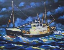 "Kirkcaldy Trawler : Original Marine Oil Painting by Kevin Corroue 16"" X 12"""