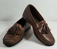 COLE HAAN Mens Dress Shoes Brown Leather Tassel Loafers Casual Slip On Size 9D