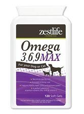 Zestlife Omega 3 6 9 for Dogs 120 soft gels healthy heart, joints, immune system
