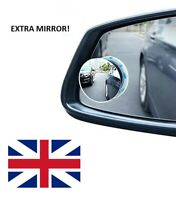 2 X Car Blind Spot Mirror Adjustable Wide Angle 360 Rotation Convex Rear View-UK