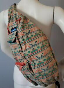 KAVU Rope Bag Sling Hiking Camping Southwestern Body Cross Aztec Canyon Blanket