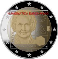 2 EURO ITALIA 2020 - MONTESSORI FDC DA ROTOLINO