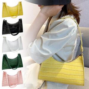 Casual Baguette Purse Bag Women Fashion Shoulder Handbag PU Clutch Underarm Tote