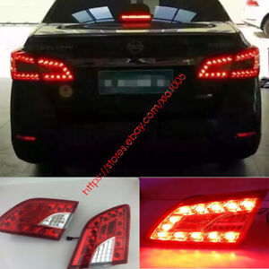 for Nissan Sentra 2013 2014 2015 LED Tail Lamp Red Light taillights brake lights