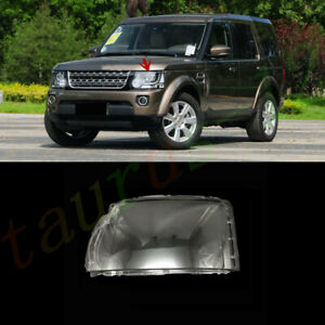 Left Side Headlight Cover Clear PC + Glue For Land Rover Discovery 4 2014-16