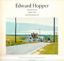 Museum of American Art Exhibition Edward Hopper: Selections Hopper Bequest 1971
