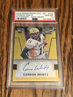 2016 Prizm Draft Picks Carson Wentz Gold /10 PSA 10 Gem Mint RC Rookie