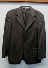 Baracuta sport coat Blazer suit jacket Herringbone tweed Brooklyn Half lined 40
