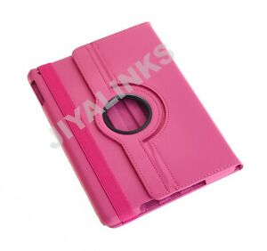 PINK 360 DEGREE ROTATING SMART STAND CASE COVER FOR APPLE iPAD 2 3 4