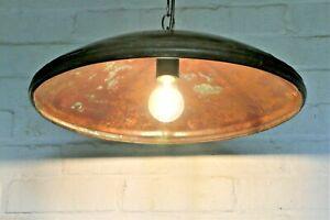 A Vintage Ceiling Light Industrial Unique Large Copper Down Lighter
