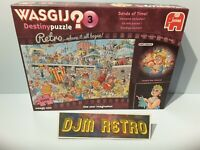 USED 1000 Piece WASGIJ Jigsaw Puzzle 19169 DESTINY RETRO (3)..THE SANDS OF TIME
