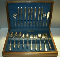 Vtg Silver Plate Flatware 53 piece set 1941 Gardenia Pattern by Edward J. Conroy