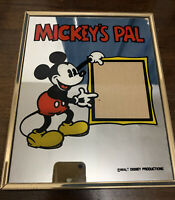 """Vintage Mickey's Pal Mirror Picture Frame 10x8"""" Walt Diseny Pin-Up RARE Mouse"""