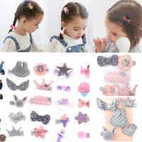 5Pcs Handmade Kids Bowknot Hair Clips Barrette Hairpin Girls Hair Accessories