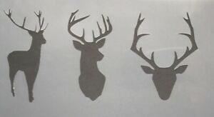 Shabby Chic Stencils Mini Stag Deer Heads Vintage Arts & Crafts Painting Decor