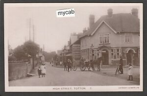 Postcard Totton Southampton Hampshire the High Street early RP by Lilywhite