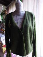 lot gilet   vert et broche vintage assortie= jacqueline riu =taille 5