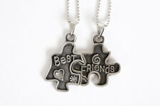 New Two Puzzle Best Friend Necklace - 2 piece Split Necklass - Free Shipping