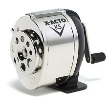 School Hand Crank Desktop Pencil Sharpener Boston Wall Mount Manual Table Chrome