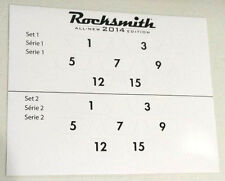 Rocksmith 2014 Guitar Fret Number Stickers -Two Sets Per Sheet