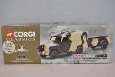 Corgi 07501 British Army Land Rover & 2 Wheel Trailer 1:43 mint in box